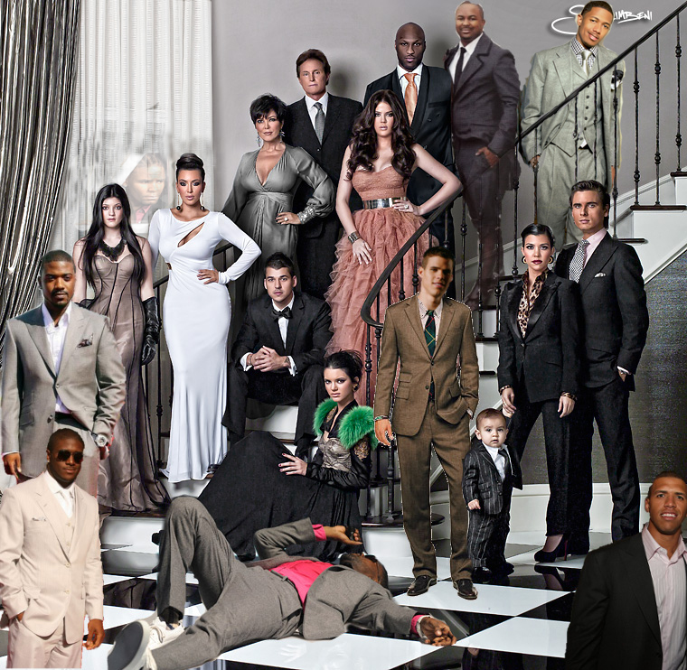Kardashian Christmas Photo (including everyone who smashed)   IMNOTATOY